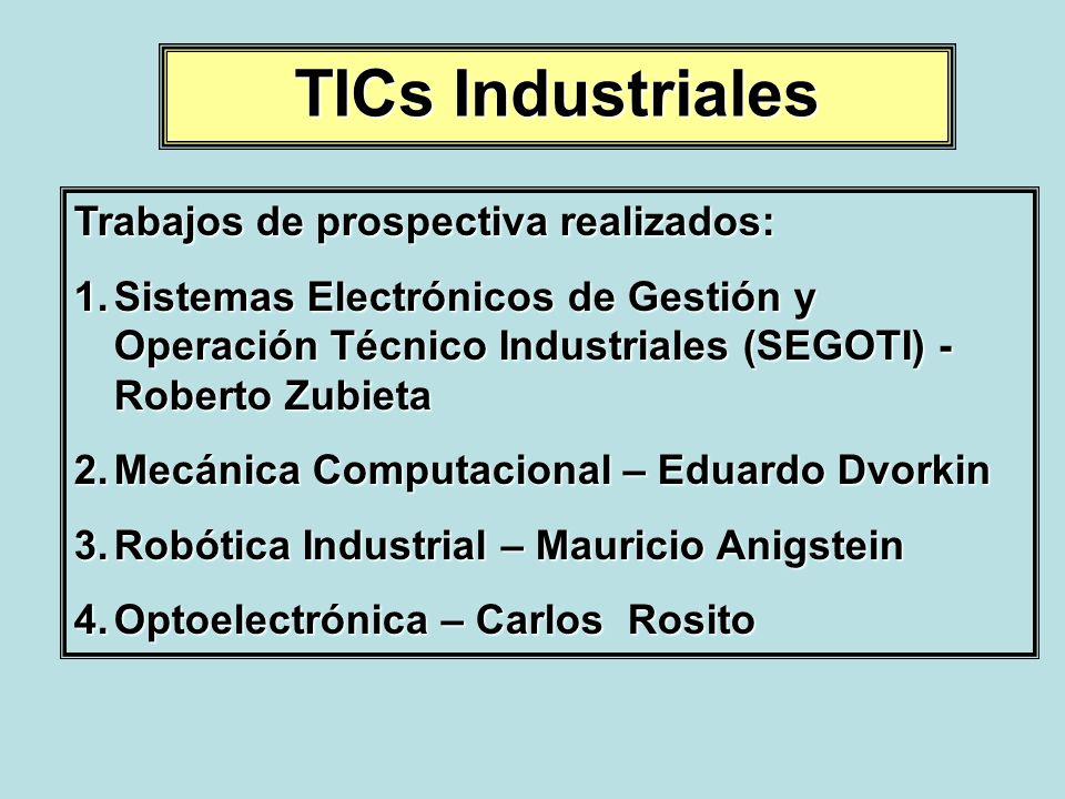 TICs Industriales Trabajos de prospectiva realizados: