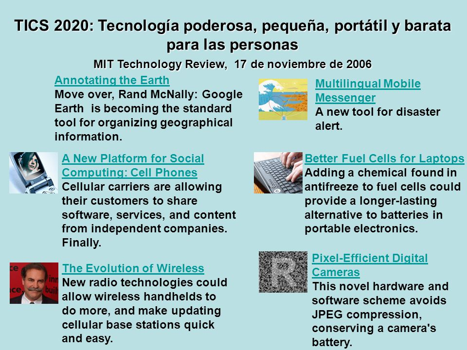 MIT Technology Review, 17 de noviembre de 2006