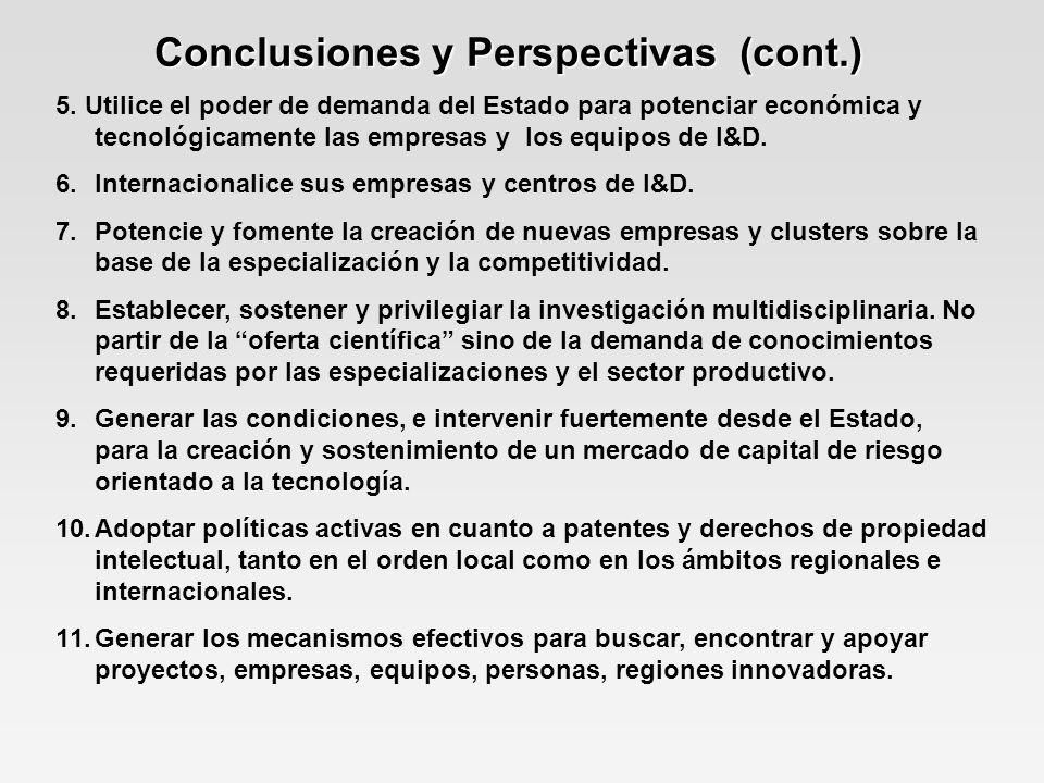 Conclusiones y Perspectivas (cont.)