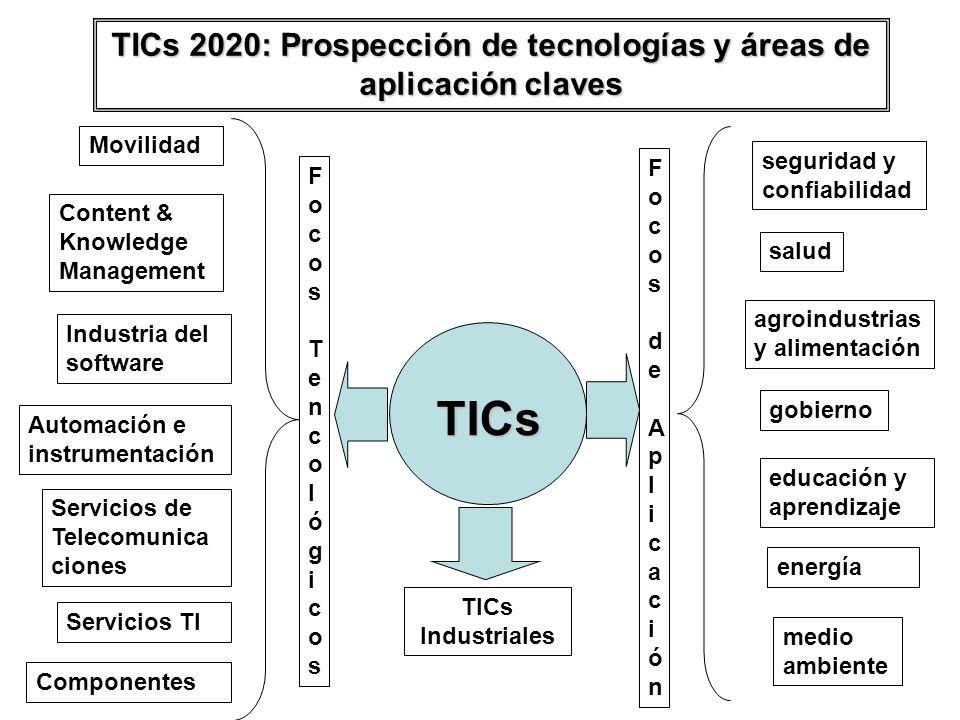 TICs 2020: Prospección de tecnologías y áreas de aplicación claves