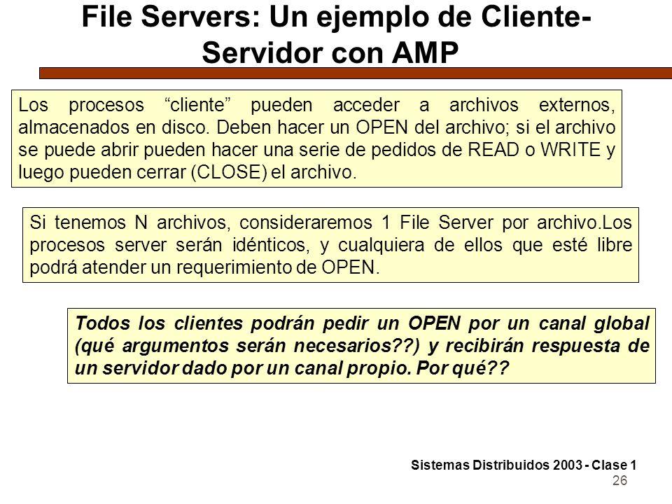 File Servers: Un ejemplo de Cliente-Servidor con AMP