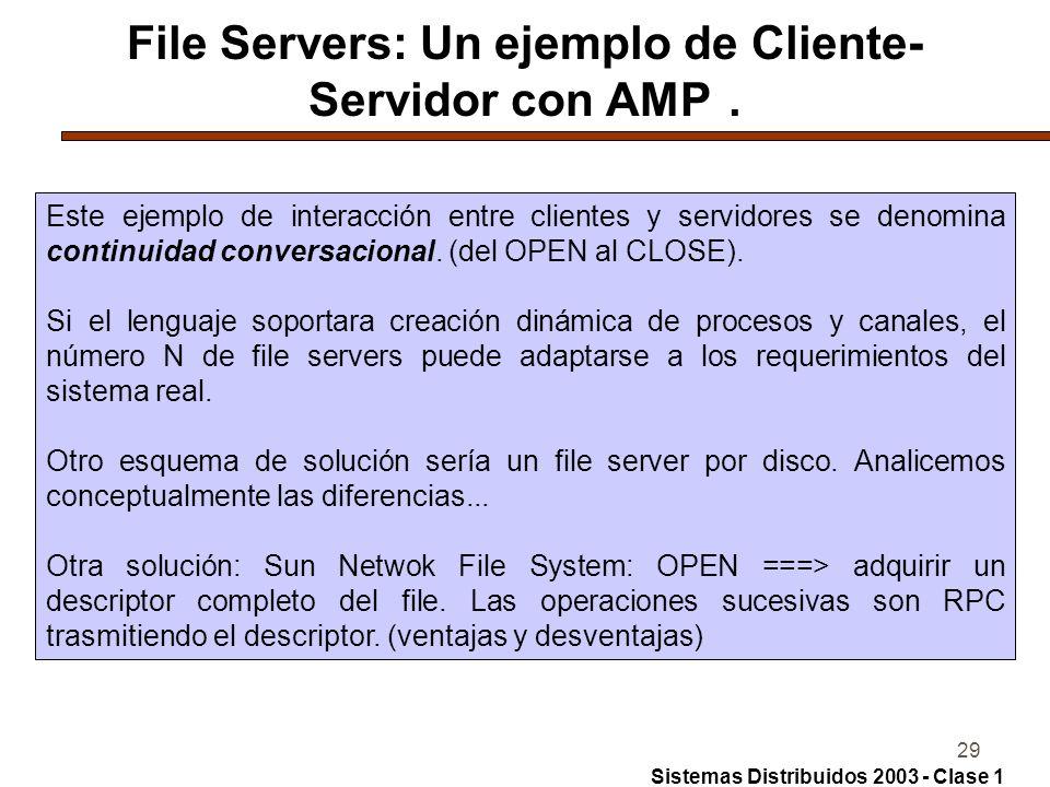 File Servers: Un ejemplo de Cliente-Servidor con AMP .