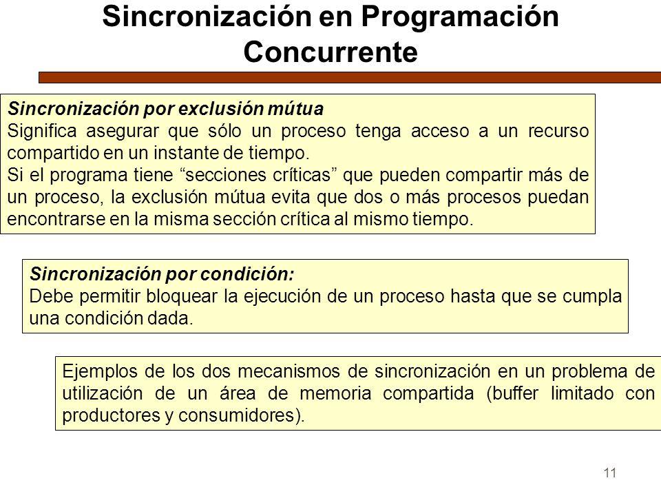 Sincronización en Programación Concurrente