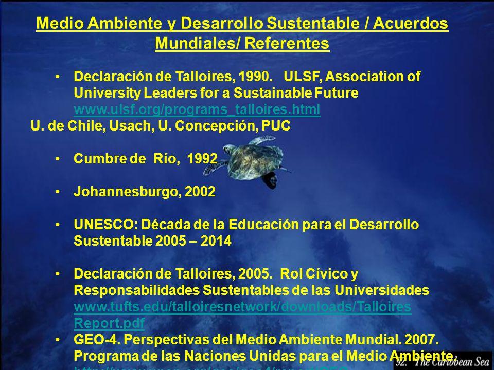 Medio Ambiente y Desarrollo Sustentable / Acuerdos Mundiales/ Referentes