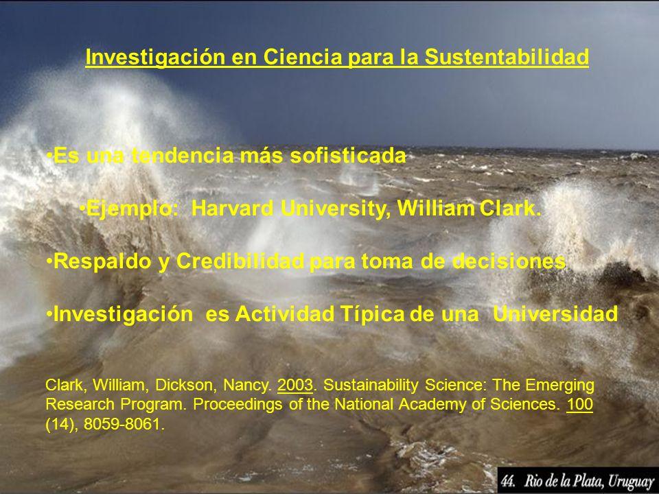 Investigación en Ciencia para la Sustentabilidad