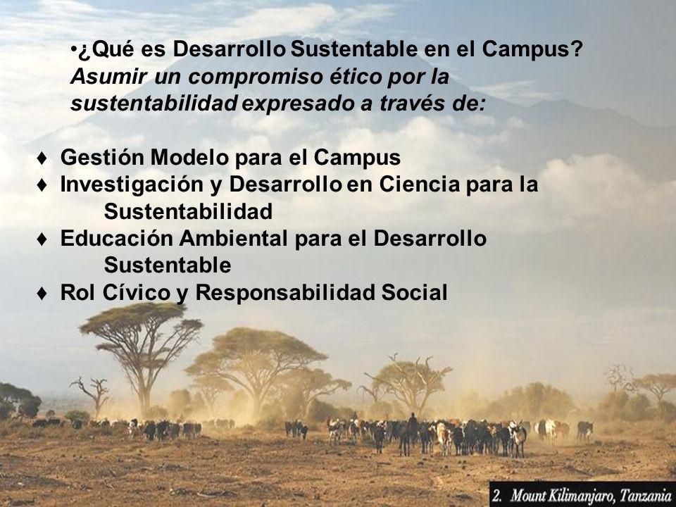 ¿Qué es Desarrollo Sustentable en el Campus