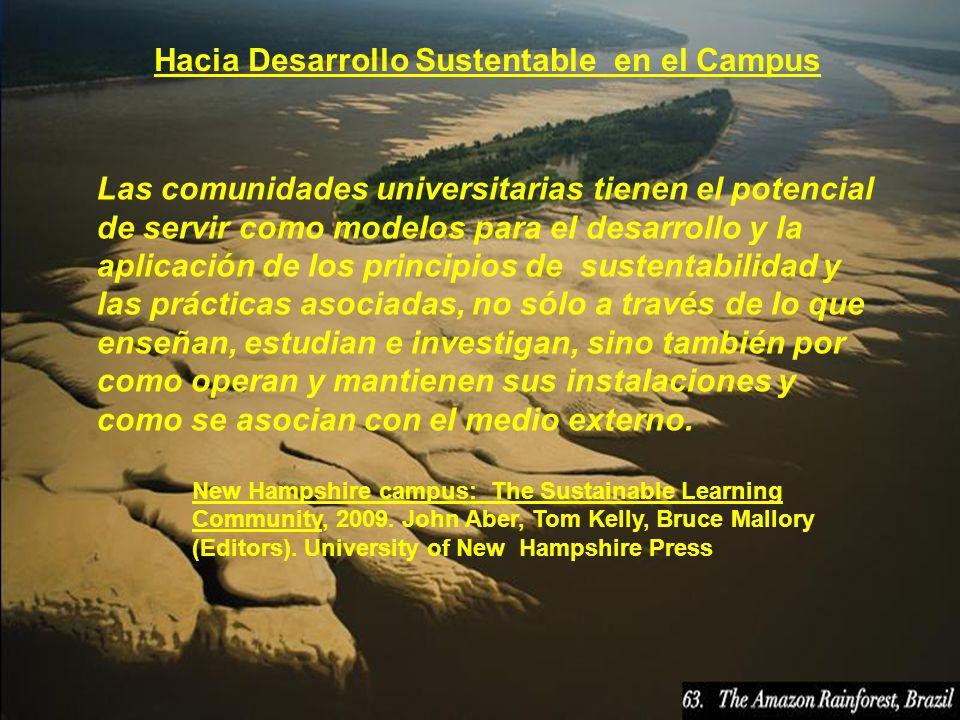 Hacia Desarrollo Sustentable en el Campus