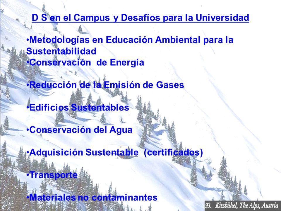 D S en el Campus y Desafíos para la Universidad