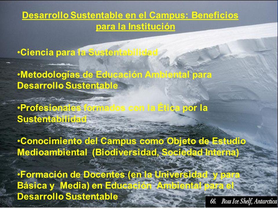 Desarrollo Sustentable en el Campus: Beneficios para la Institución