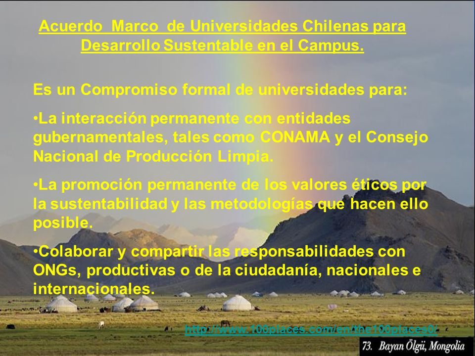 Es un Compromiso formal de universidades para: