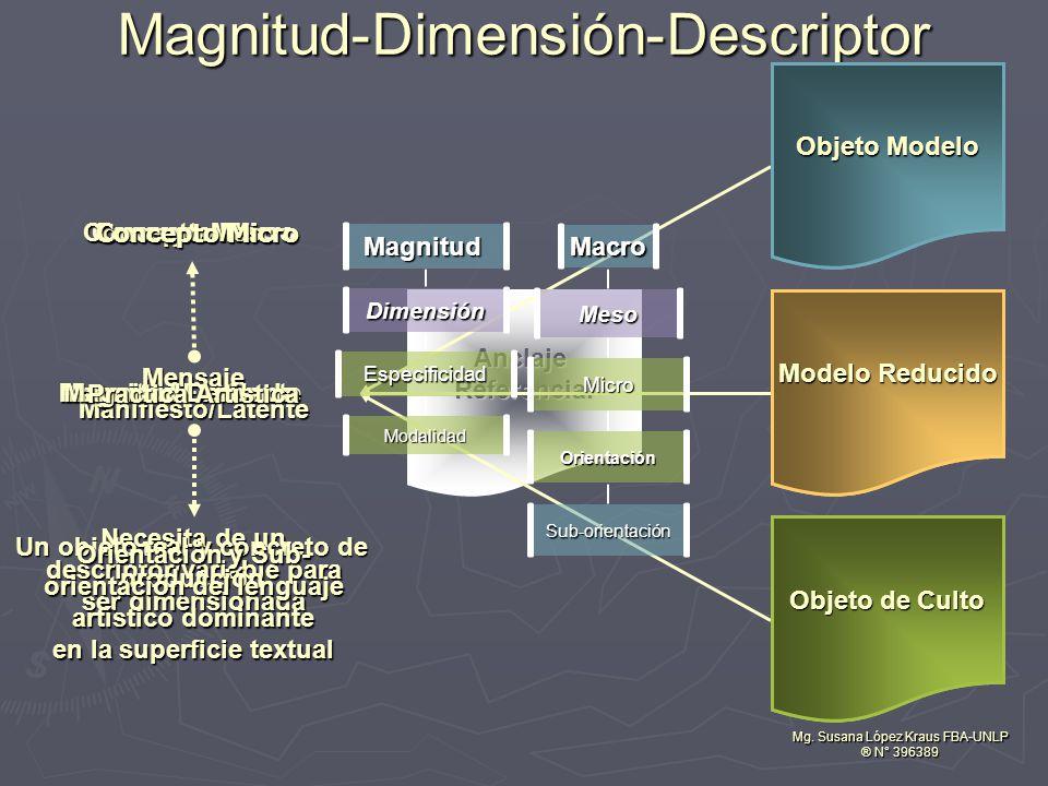 Magnitud-Dimensión-Descriptor