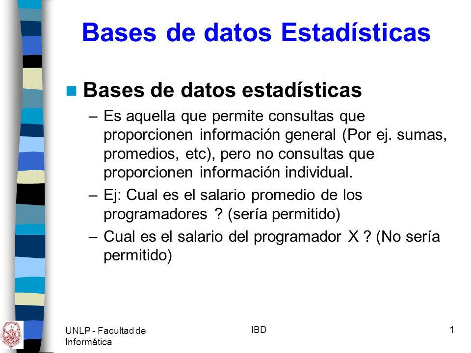 Bases de datos Estadísticas