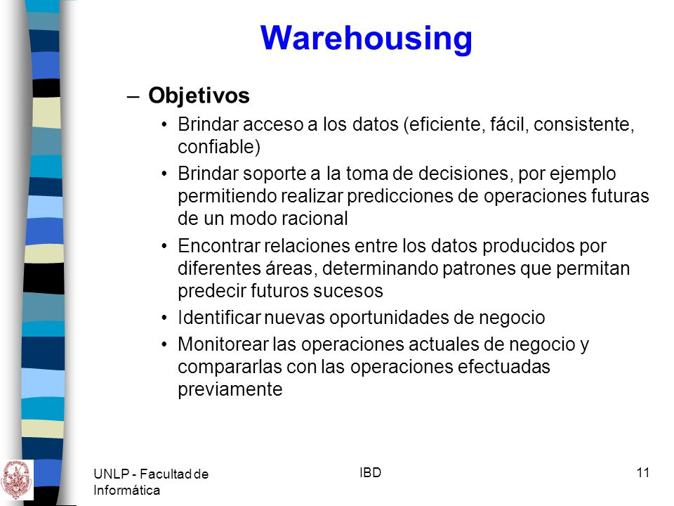 Warehousing Objetivos