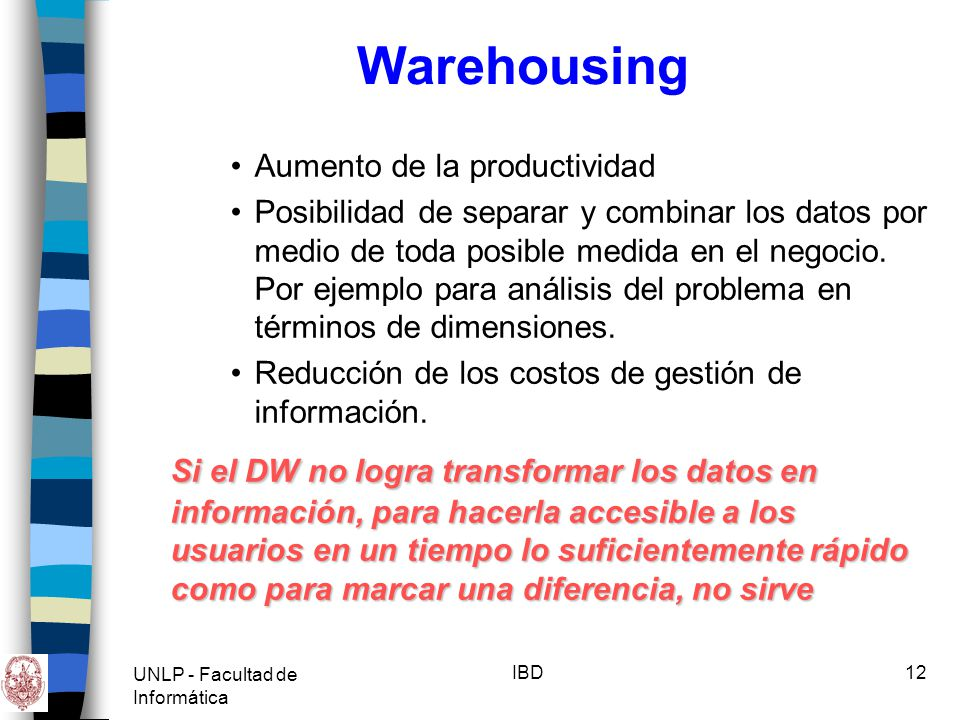 Warehousing Aumento de la productividad.