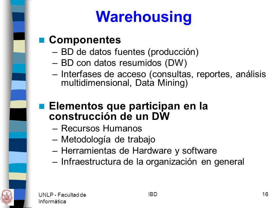Warehousing Componentes