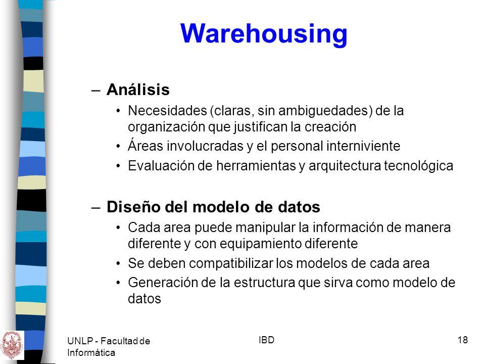 Warehousing Análisis Diseño del modelo de datos