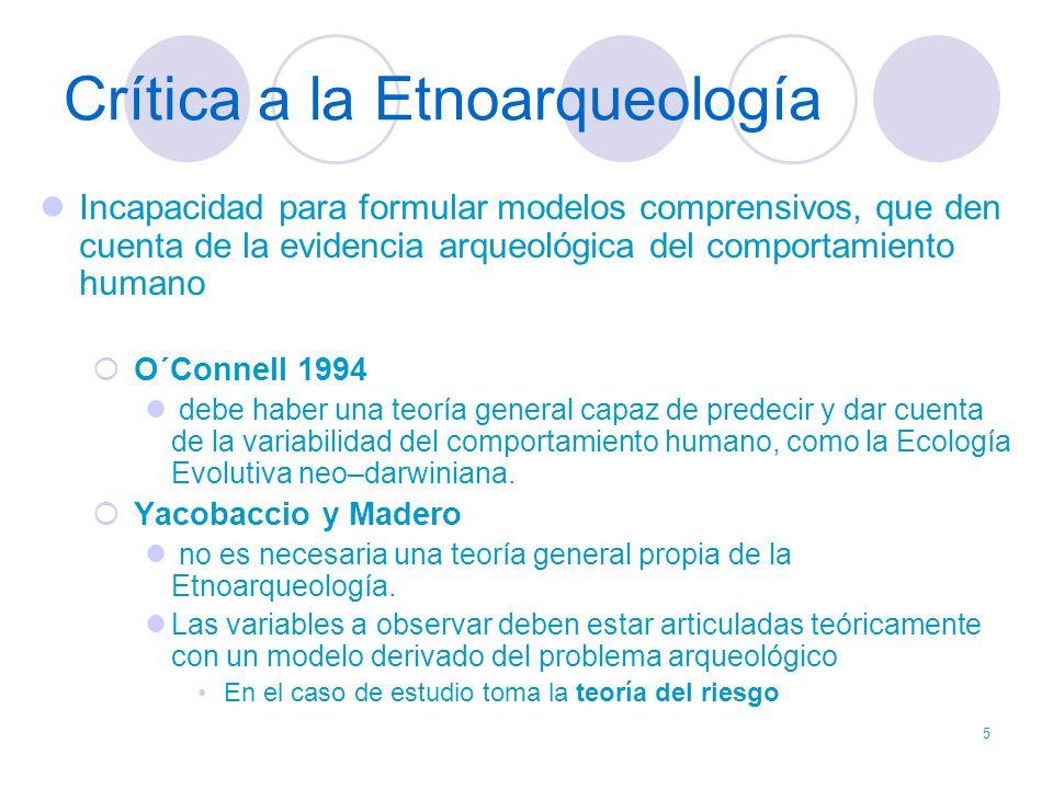 Crítica a la Etnoarqueología