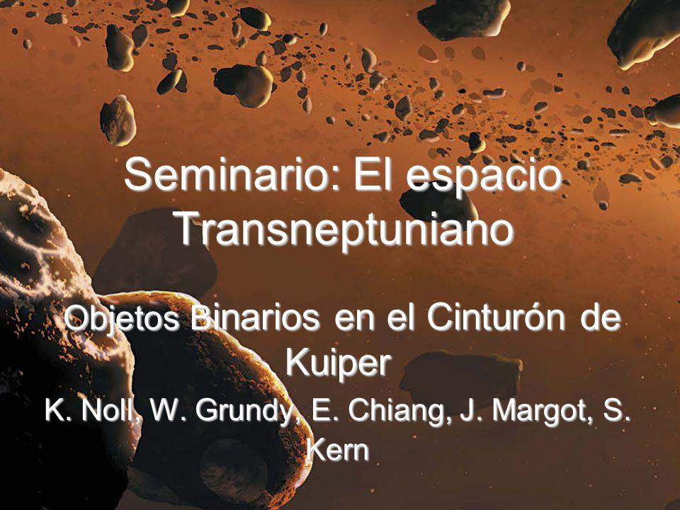 Seminario: El espacio Transneptuniano