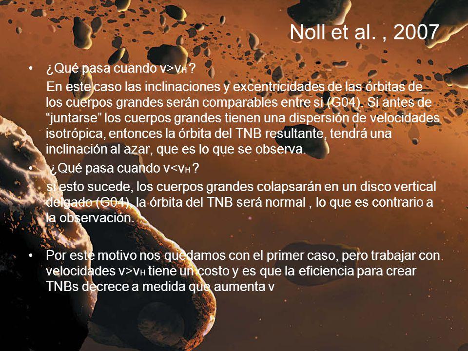 Noll et al. , 2007 ¿Qué pasa cuando v>vH