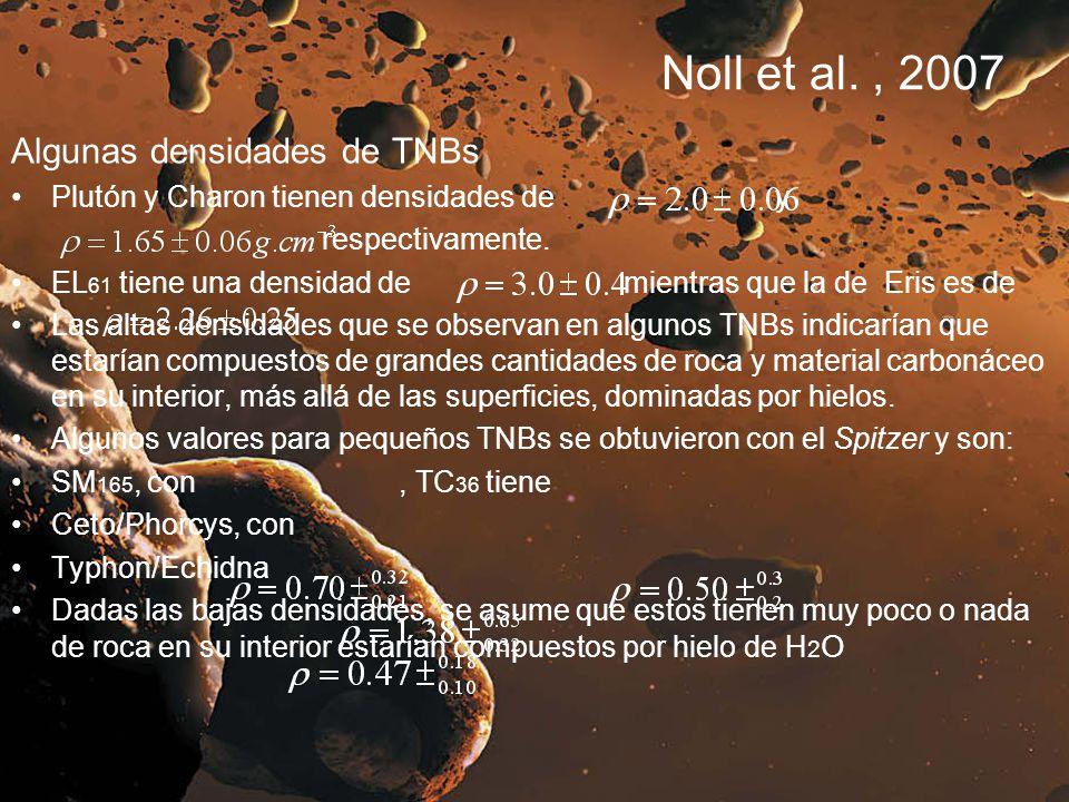 Noll et al. , 2007 Algunas densidades de TNBs