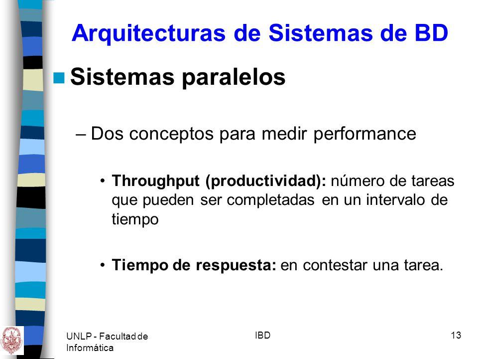 Arquitecturas de Sistemas de BD