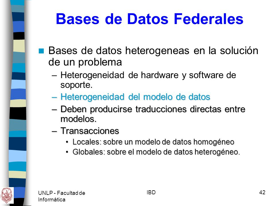 Bases de Datos Federales