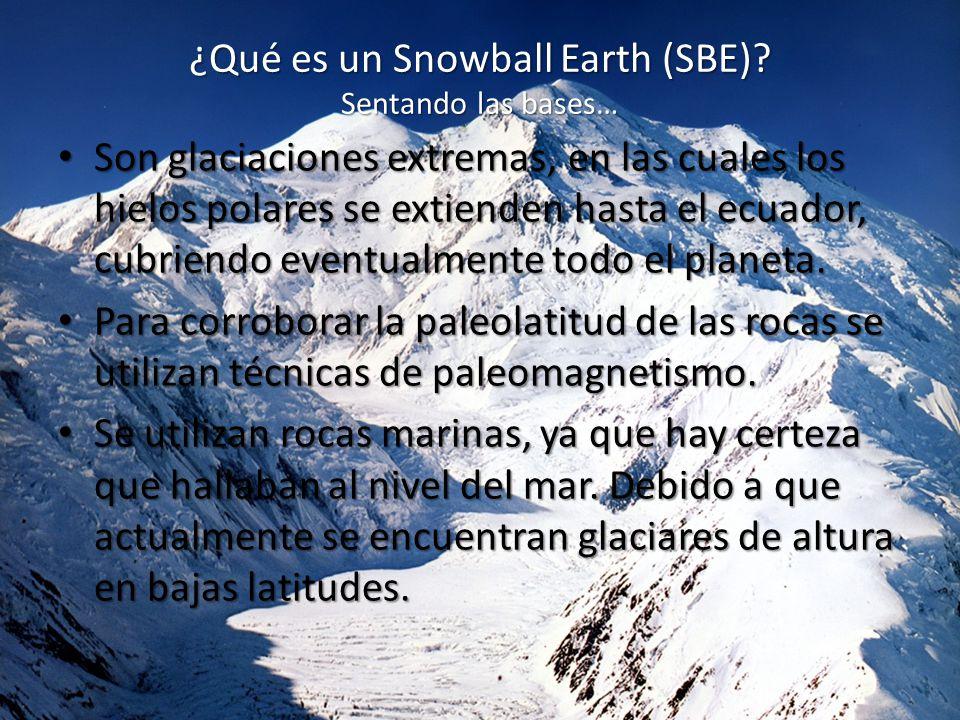 ¿Qué es un Snowball Earth (SBE) Sentando las bases…