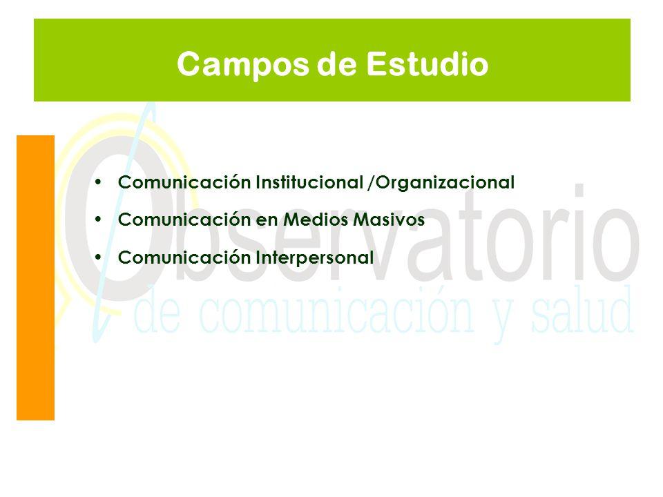 Campos de Estudio Comunicación Institucional /Organizacional
