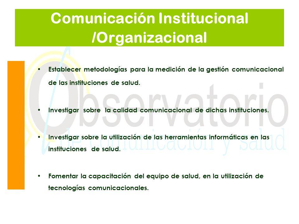 Comunicación Institucional /Organizacional