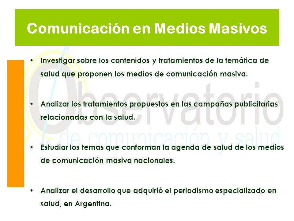 Comunicación en Medios Masivos