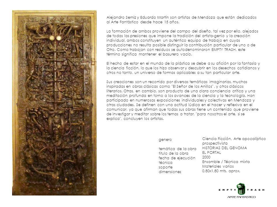 Alejandro Semiz y Eduardo Martín son artistas de Mendoza que están dedicados