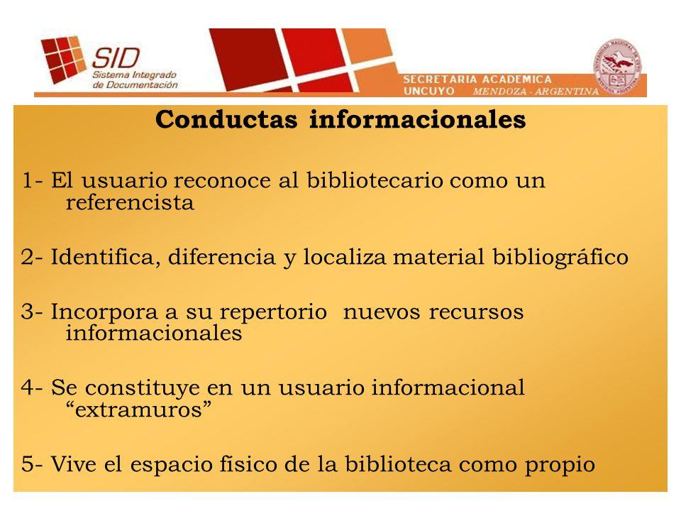 Conductas informacionales