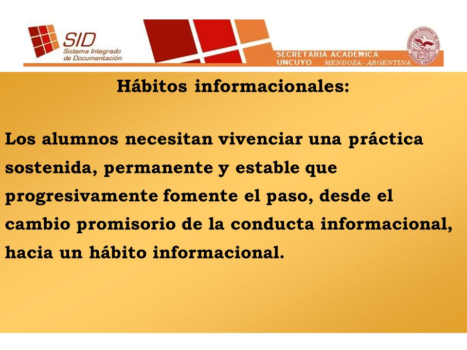 Hábitos informacionales: