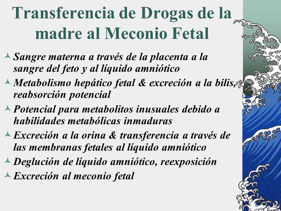 Transferencia de Drogas de la madre al Meconio Fetal