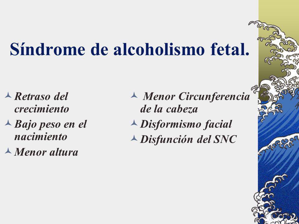 Síndrome de alcoholismo fetal.
