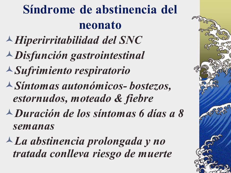 Síndrome de abstinencia del neonato