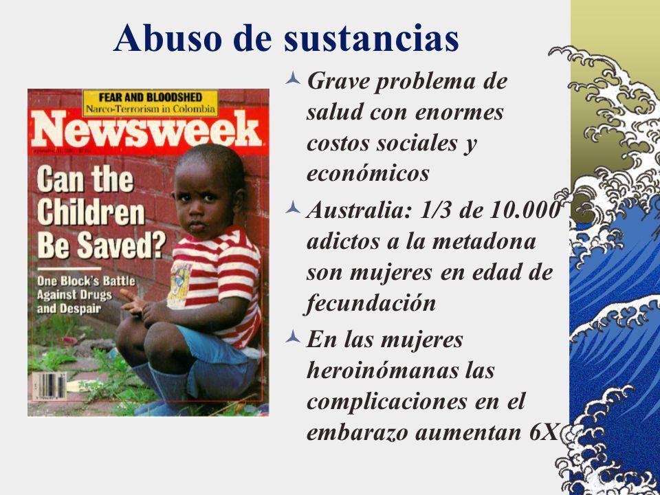 Abuso de sustancias Grave problema de salud con enormes costos sociales y económicos.