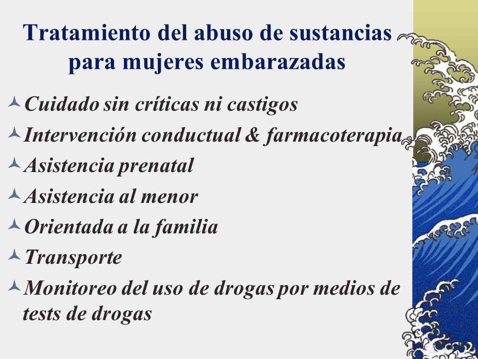 Tratamiento del abuso de sustancias para mujeres embarazadas
