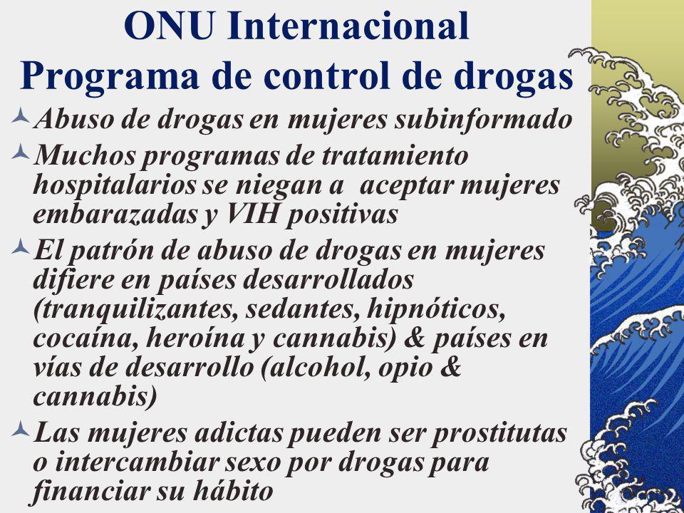 ONU Internacional Programa de control de drogas