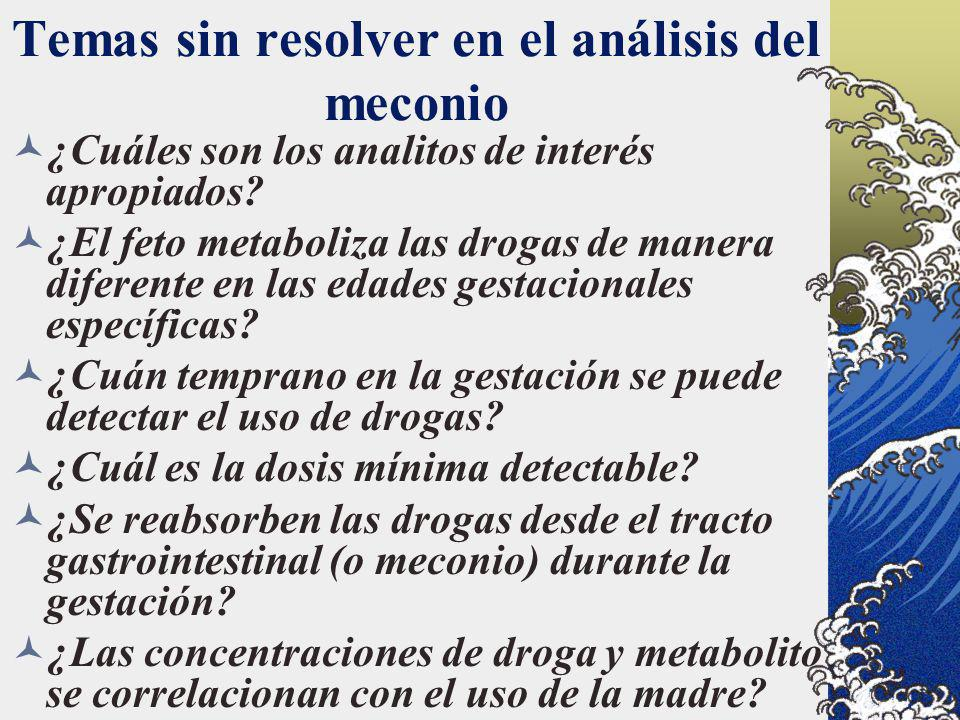Temas sin resolver en el análisis del meconio