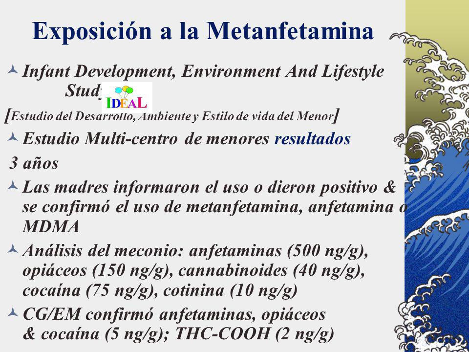 Exposición a la Metanfetamina