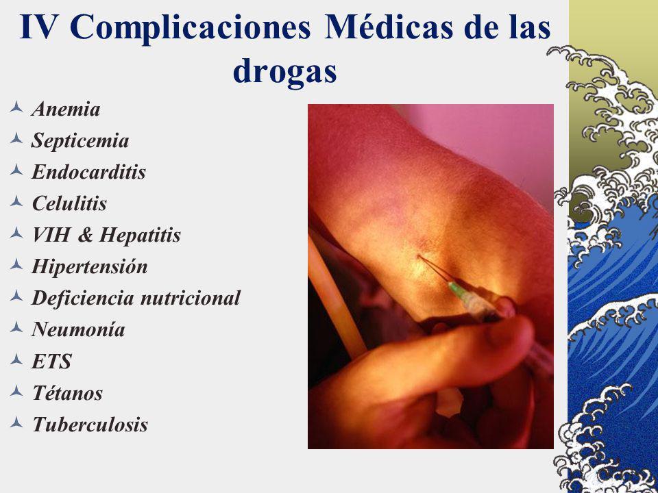 IV Complicaciones Médicas de las drogas