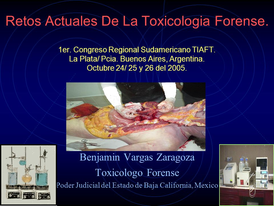 Retos Actuales De La Toxicologia Forense. 1er
