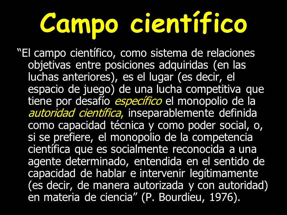 Campo científico
