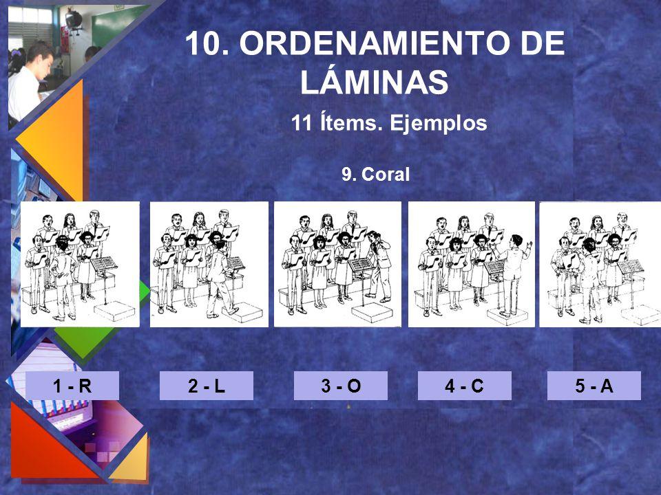 10. ORDENAMIENTO DE LÁMINAS