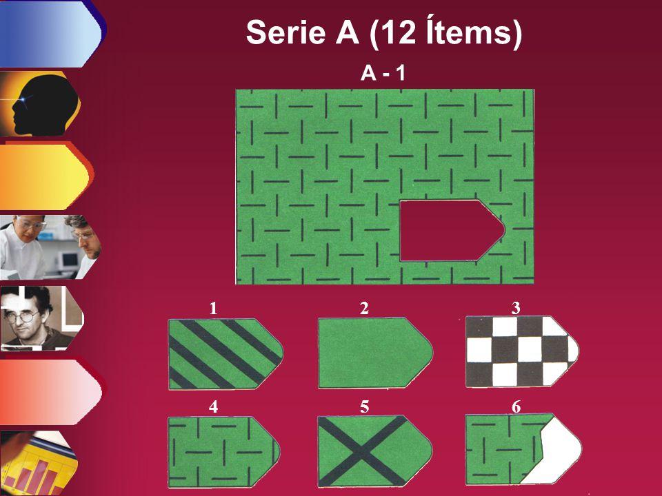Serie A (12 Ítems) A - 1 1 2 3 4 5 6