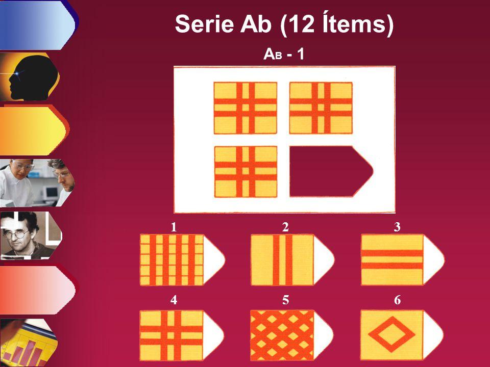 Serie Ab (12 Ítems) AB - 1 1 2 3 4 5 6