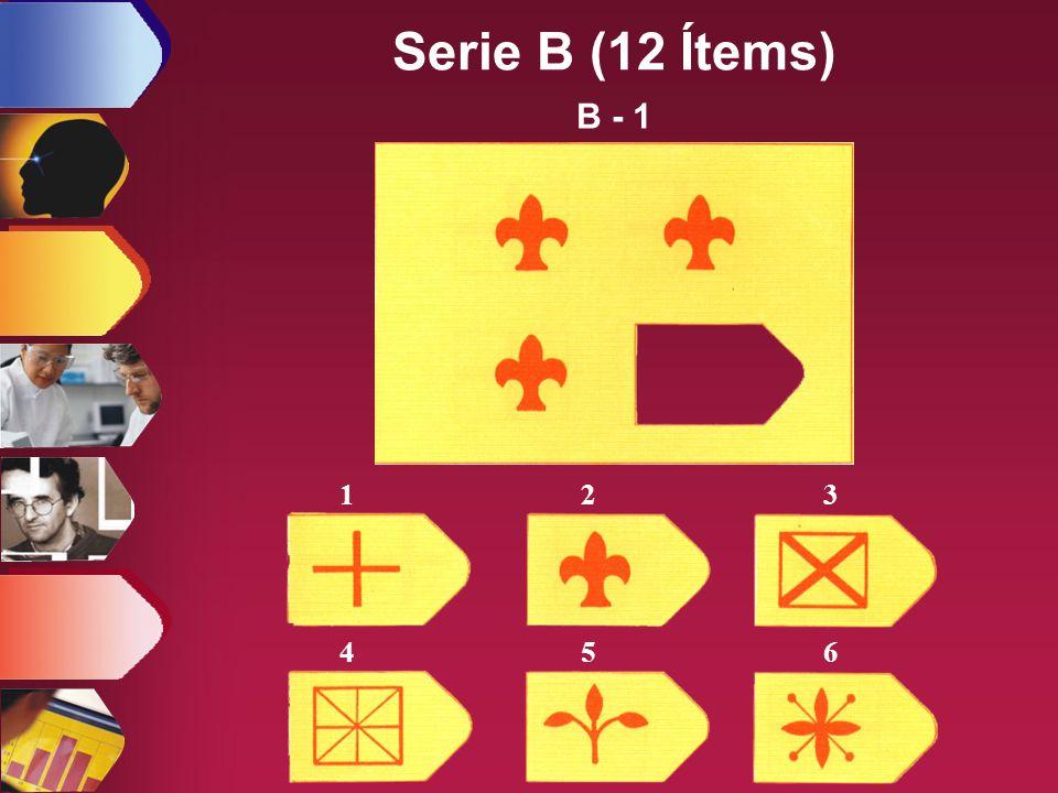 Serie B (12 Ítems) B - 1 1 2 3 4 5 6