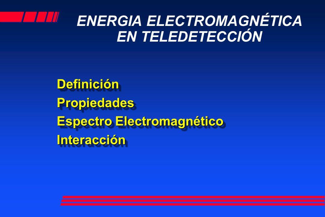 ENERGIA ELECTROMAGNÉTICA EN TELEDETECCIÓN