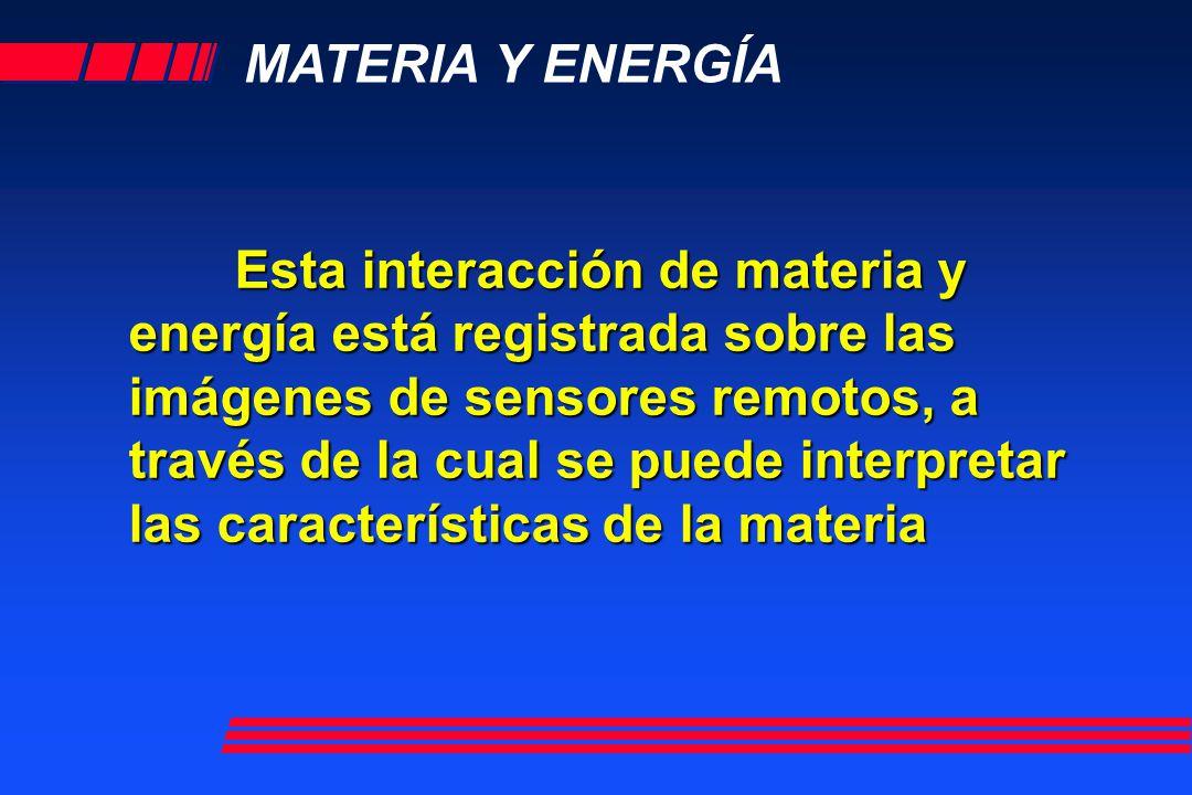 MATERIA Y ENERGÍA